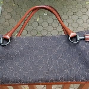 Gucci Monogram GG Canvas Leather Shoulder Bag